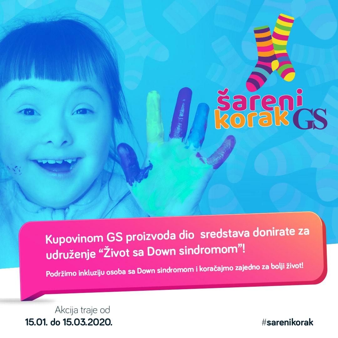 ''GS-ov šareni korak'' za udruženje ''Život sa Down sindromom''